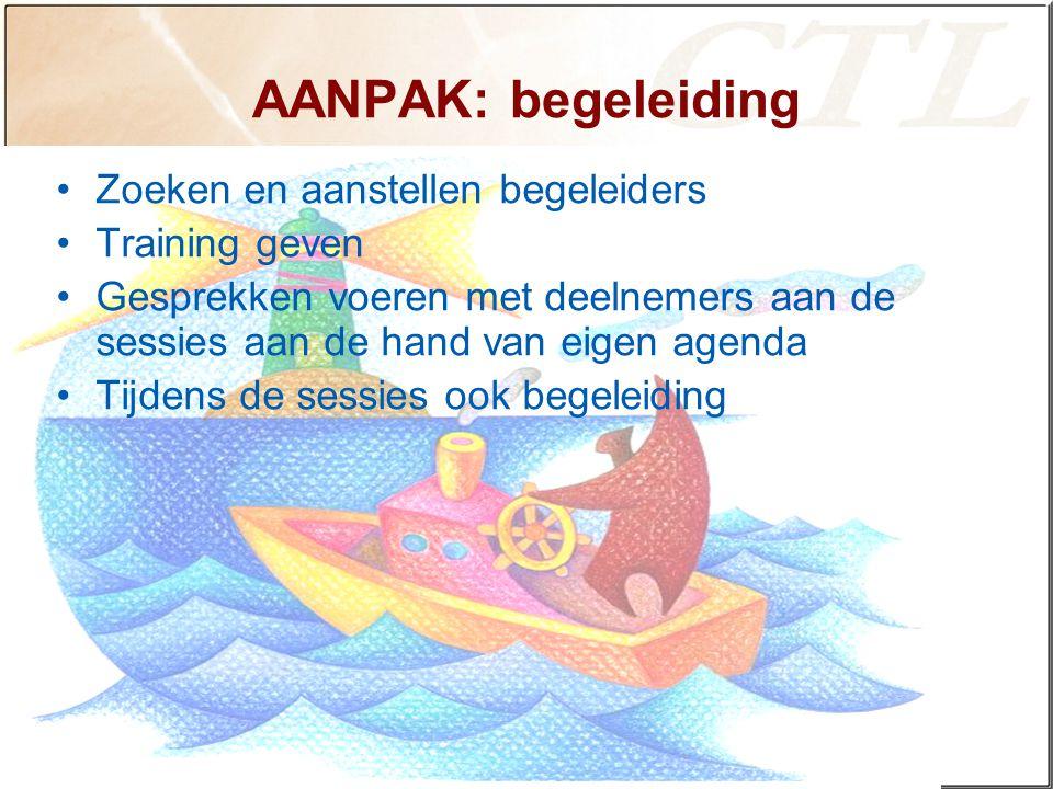 AANPAK: begeleiding Zoeken en aanstellen begeleiders Training geven