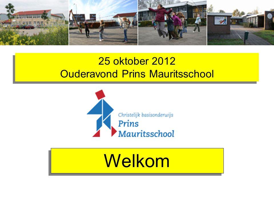 25 oktober 2012 Ouderavond Prins Mauritsschool