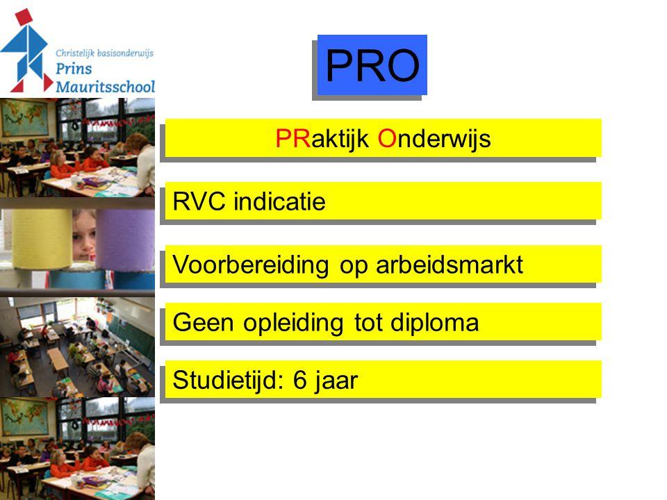 PRO PRaktijk Onderwijs RVC indicatie Voorbereiding op arbeidsmarkt