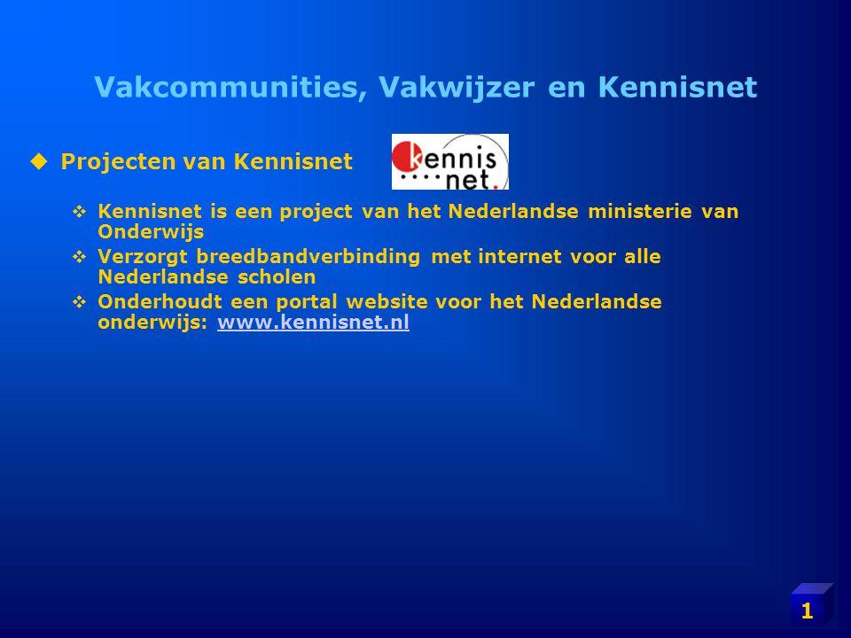 Vakcommunities, Vakwijzer en Kennisnet