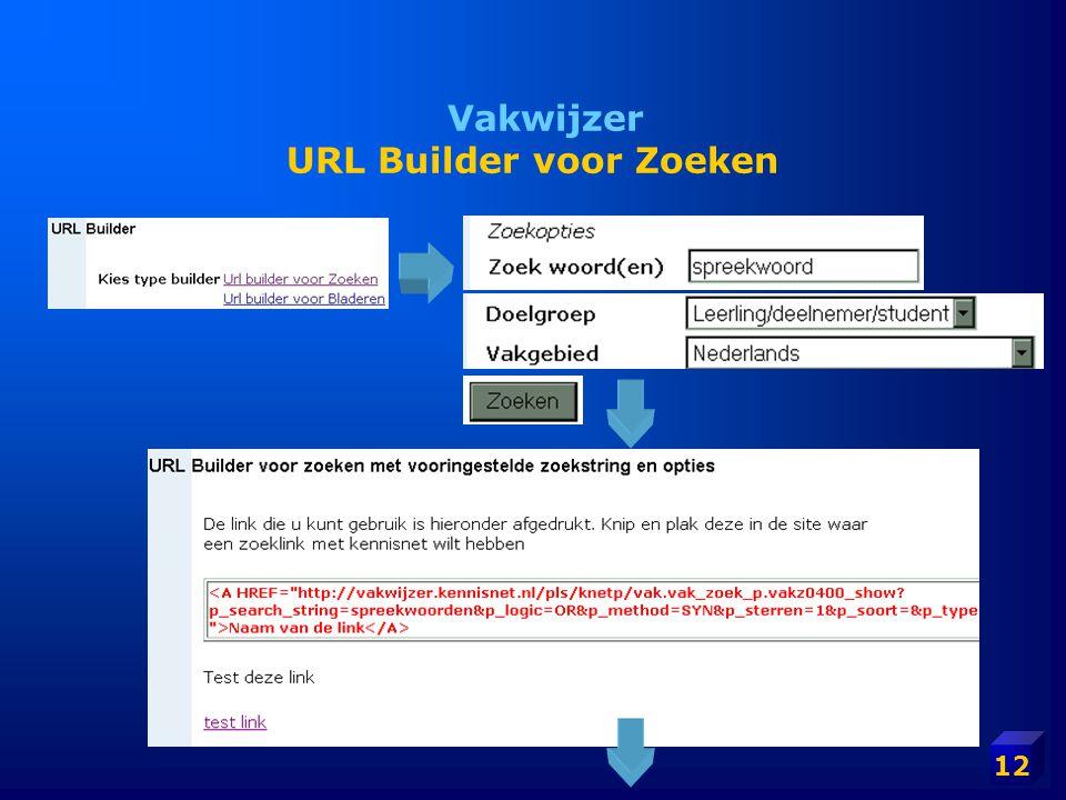 Vakwijzer URL Builder voor Zoeken