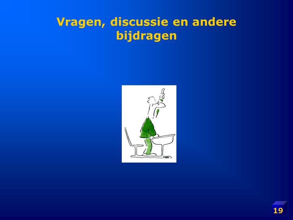 Vragen, discussie en andere bijdragen