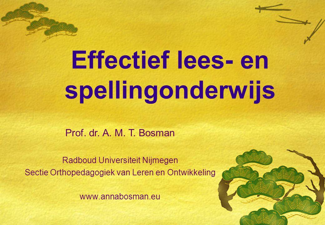 Effectief lees- en spellingonderwijs