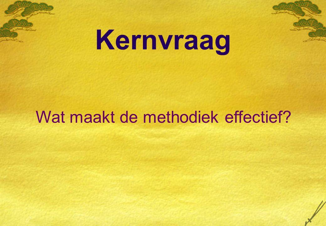 Wat maakt de methodiek effectief
