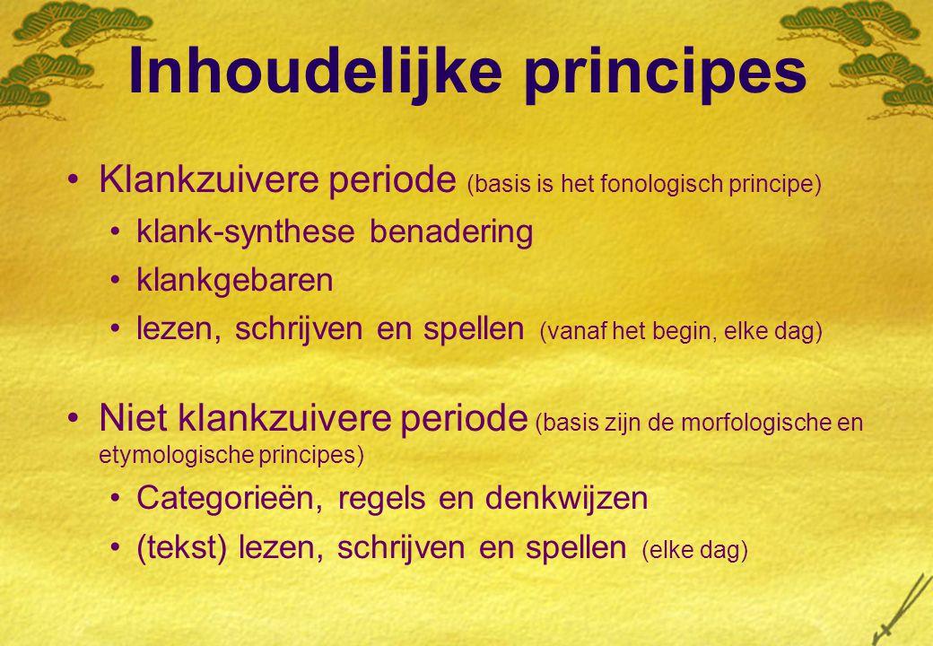Inhoudelijke principes