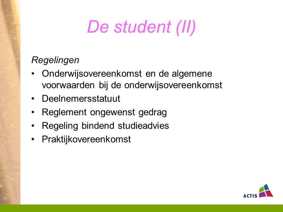 De student (II) Regelingen
