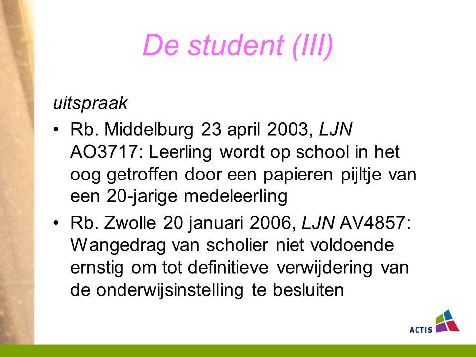 De student (III) uitspraak