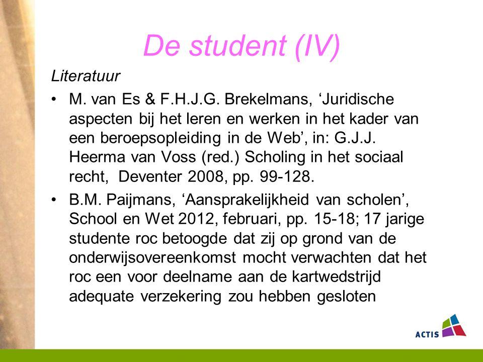 De student (IV) Literatuur