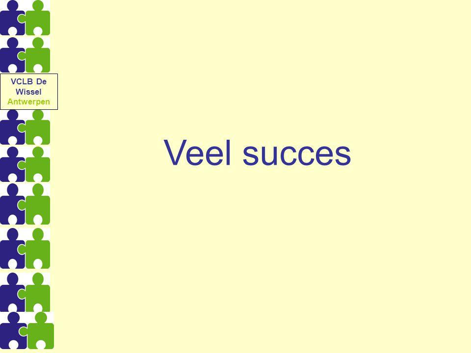 VCLB De Wissel Antwerpen Veel succes