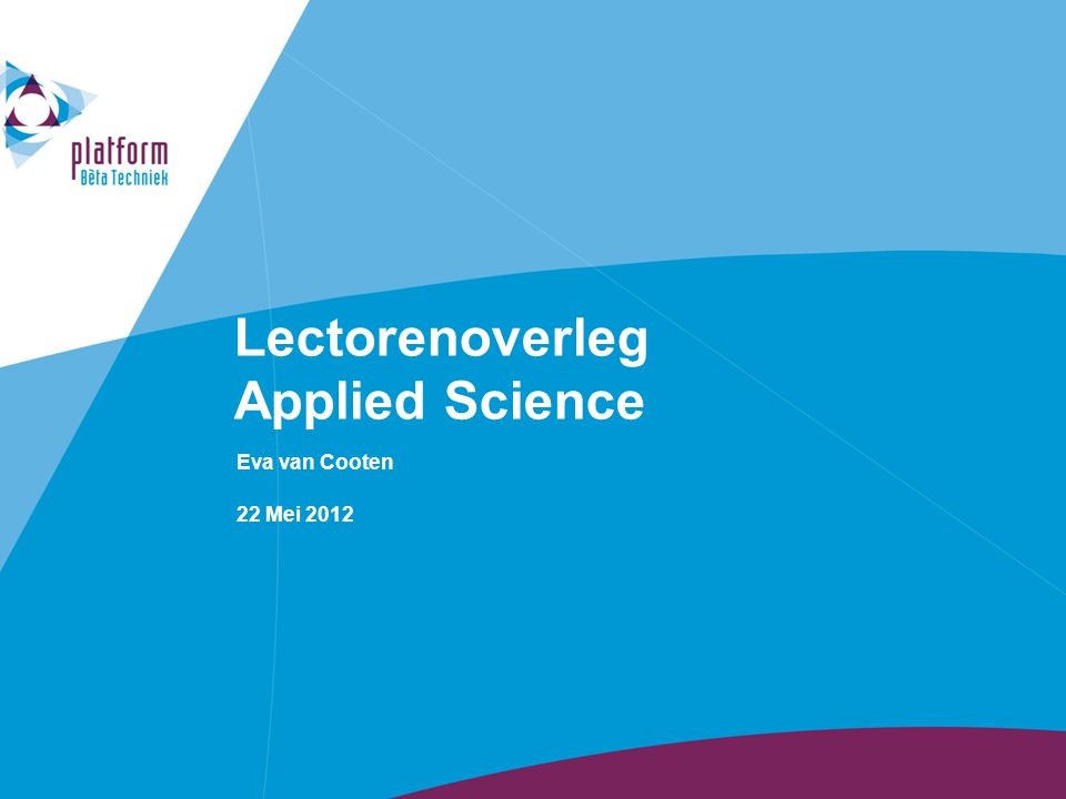 Lectorenoverleg Applied Science