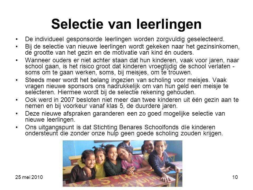 Selectie van leerlingen