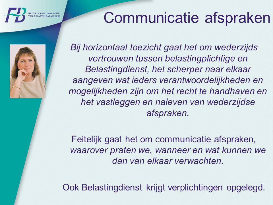 Communicatie afspraken