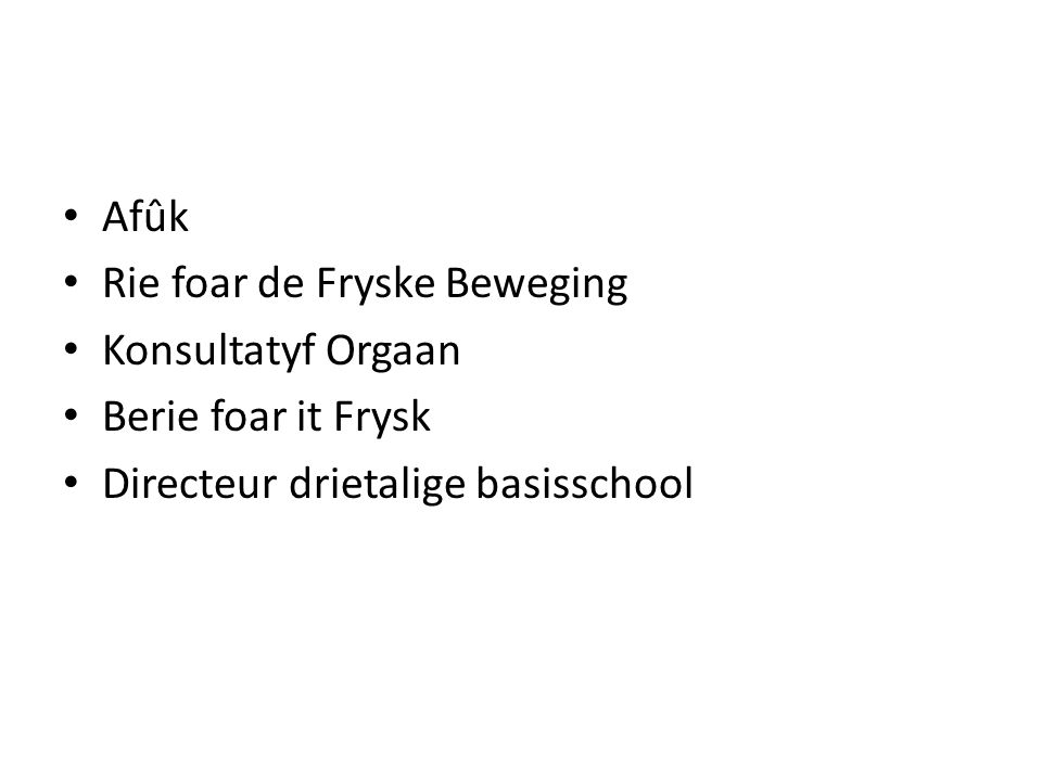 Afûk Rie foar de Fryske Beweging. Konsultatyf Orgaan.