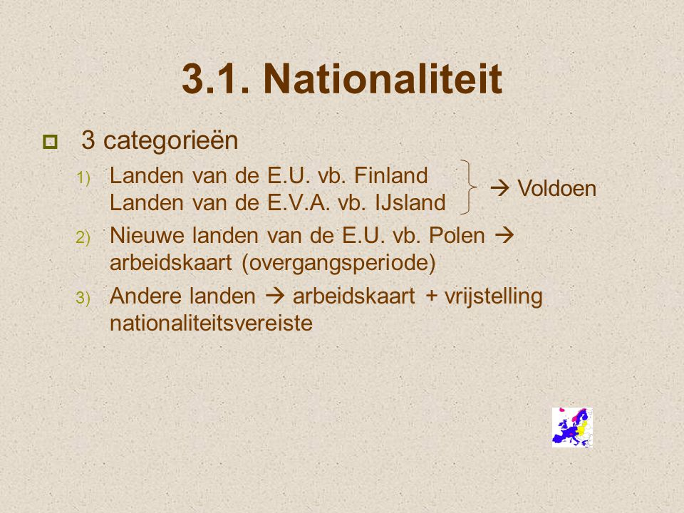3.1. Nationaliteit 3 categorieën