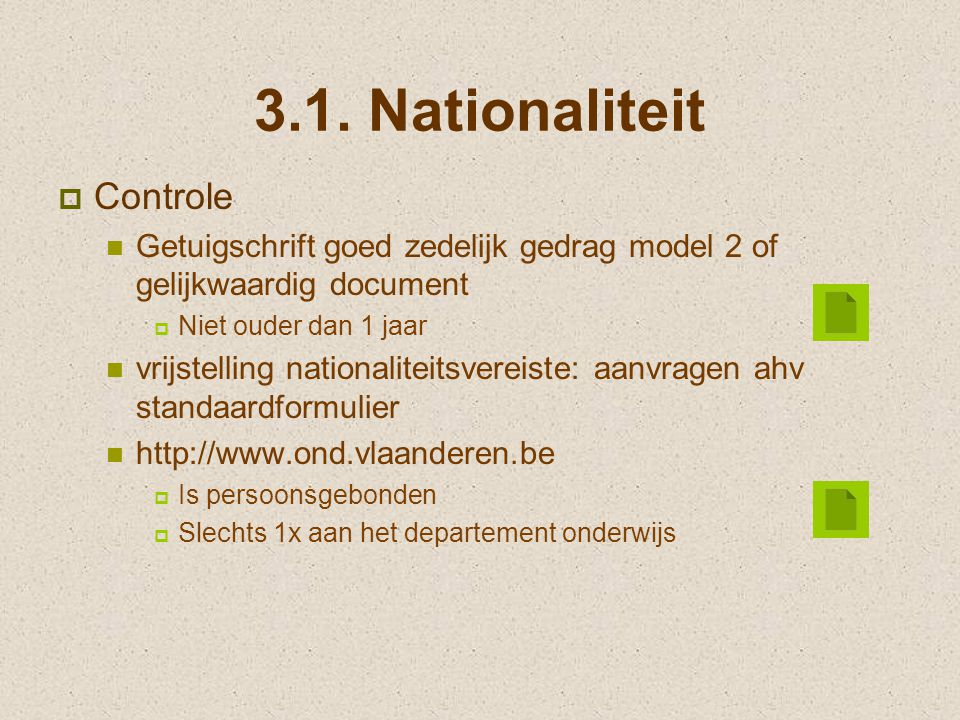 3.1. Nationaliteit Controle