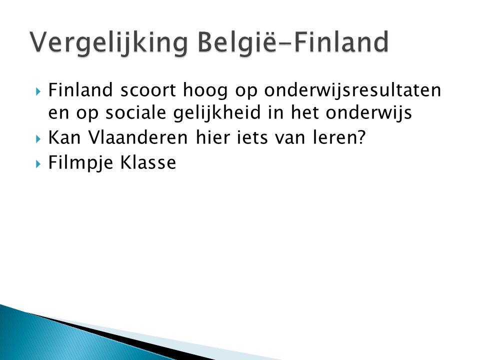 Vergelijking België-Finland