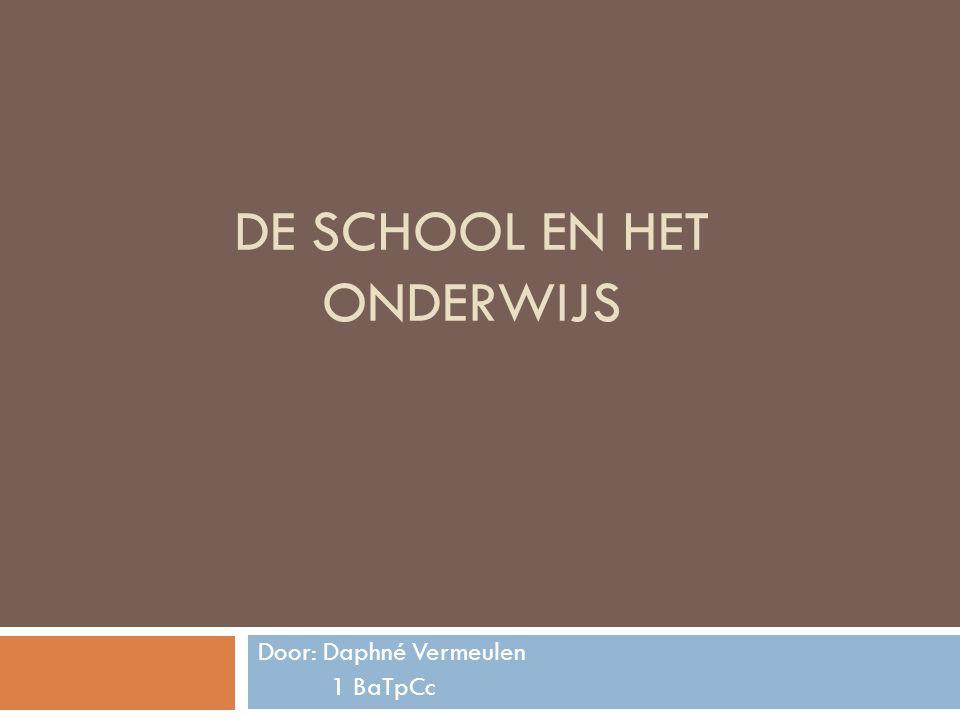 De school en het onderwijs