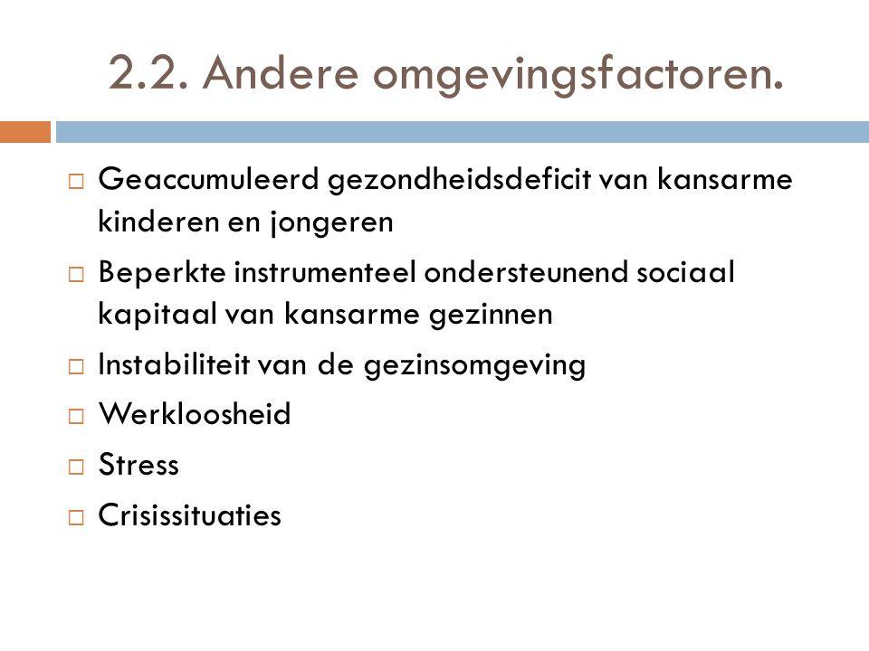 2.2. Andere omgevingsfactoren.