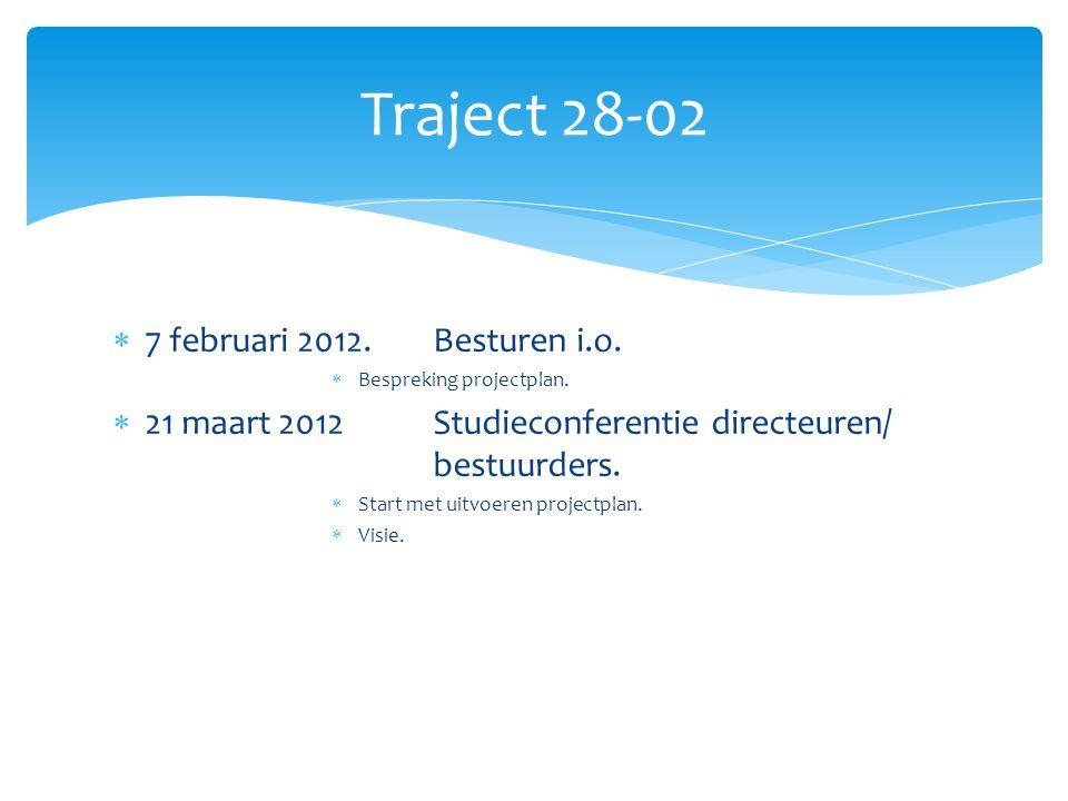 Traject 28-02 7 februari 2012. Besturen i.o.