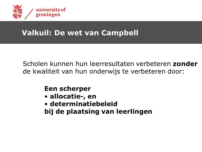 Valkuil: De wet van Campbell