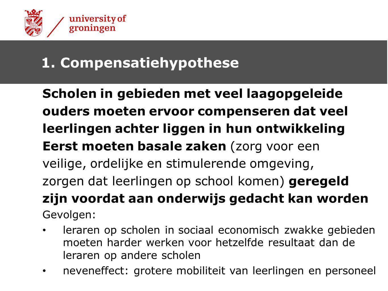 1. Compensatiehypothese