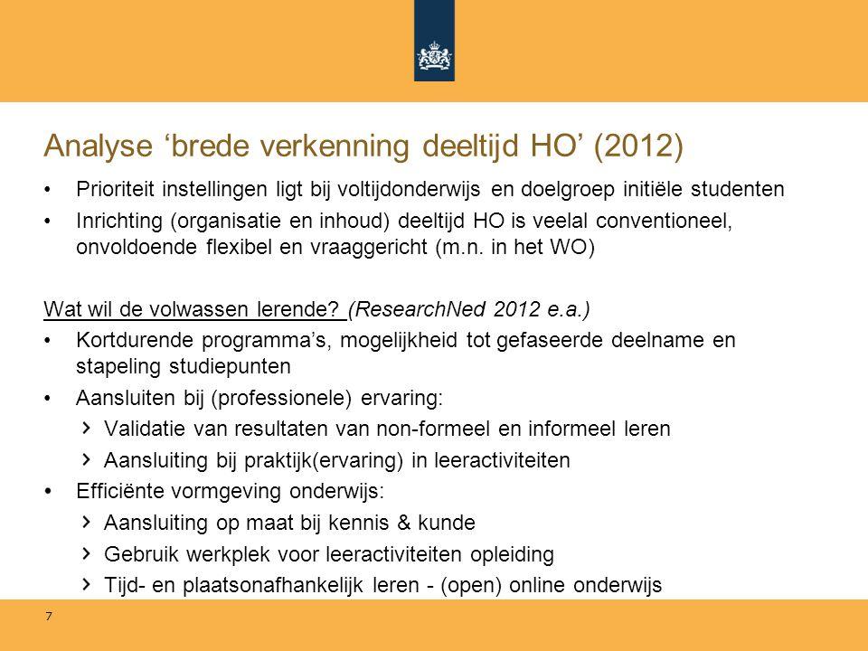 Analyse 'brede verkenning deeltijd HO' (2012)