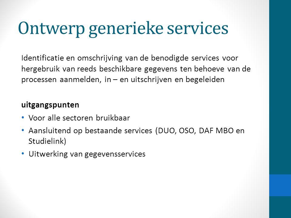 Ontwerp generieke services