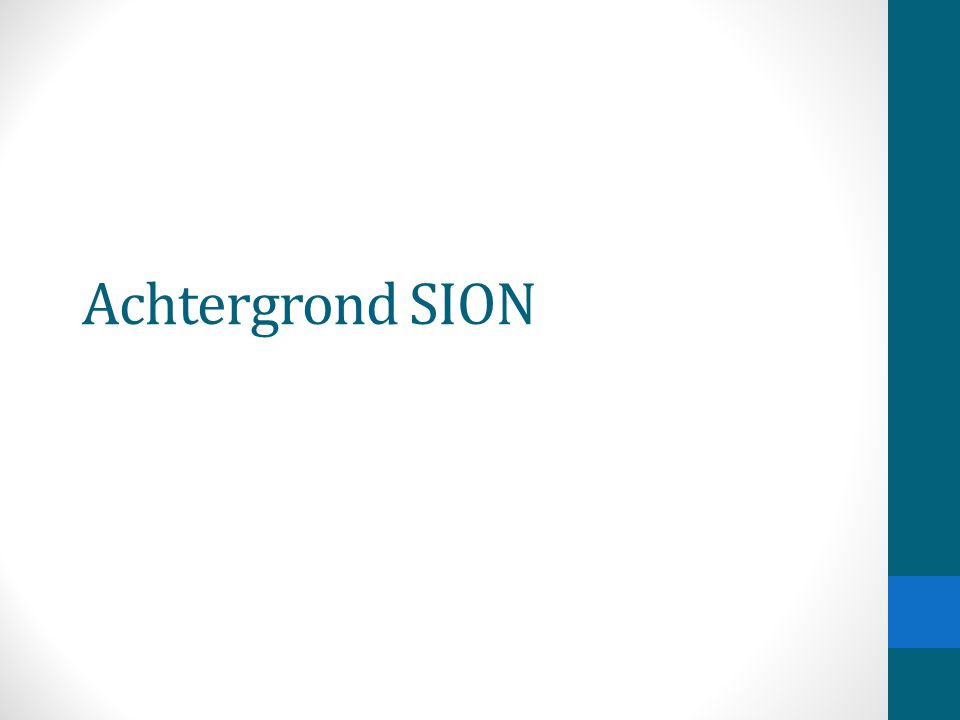 Achtergrond SION