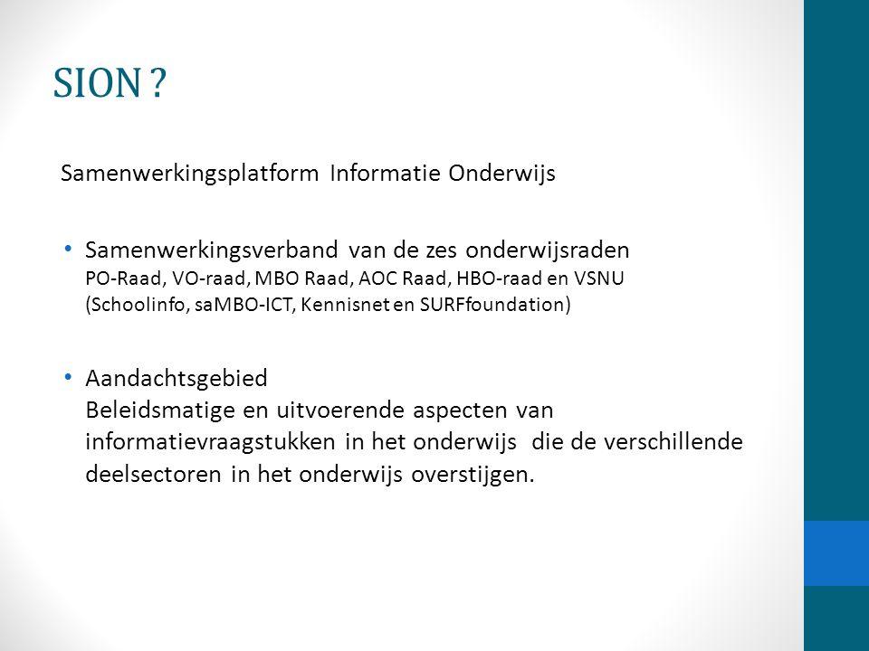 SION Samenwerkingsplatform Informatie Onderwijs