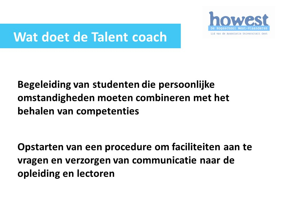 Wat doet de Talent coach