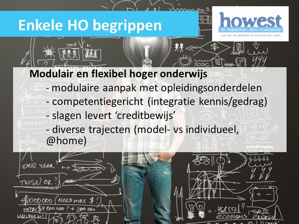 Enkele HO begrippen Modulair en flexibel hoger onderwijs