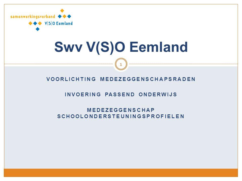 Swv V(S)O Eemland Voorlichting medezeggenschapsraden