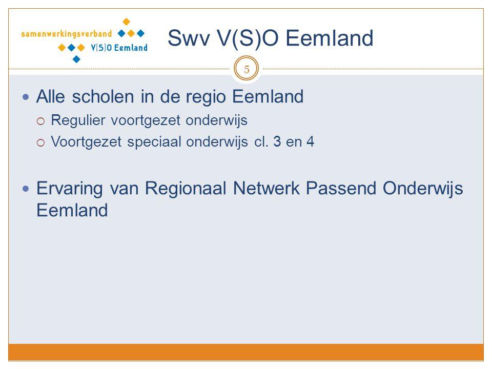 Swv V(S)O Eemland Alle scholen in de regio Eemland