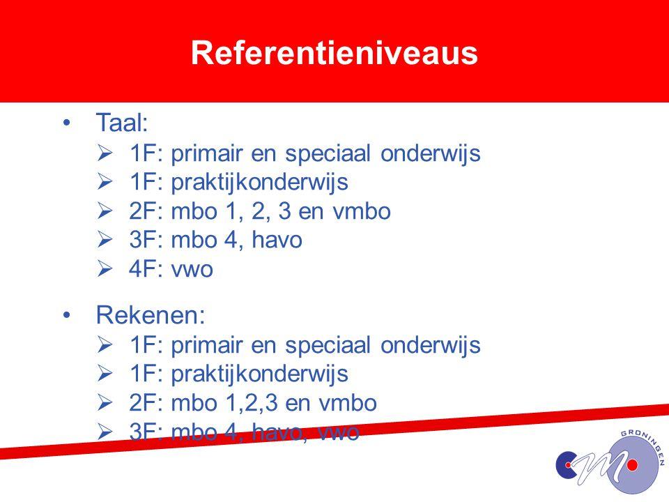 Referentieniveaus Taal: Rekenen: 1F: primair en speciaal onderwijs