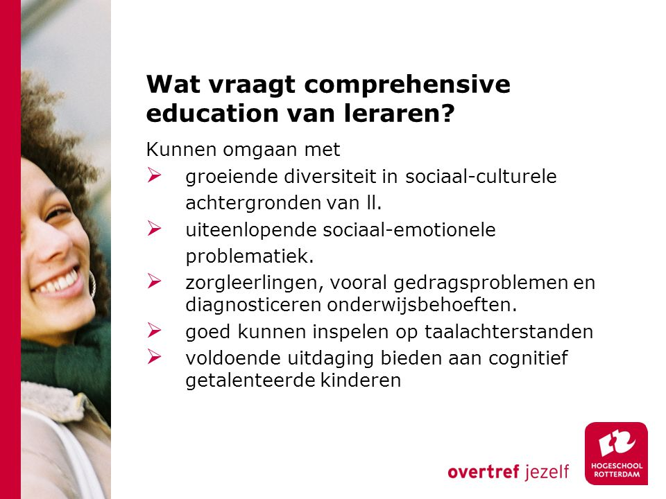 Wat vraagt comprehensive education van leraren