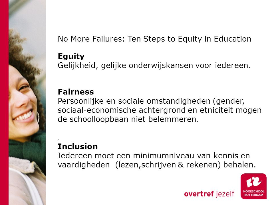 No More Failures: Ten Steps to Equity in Education