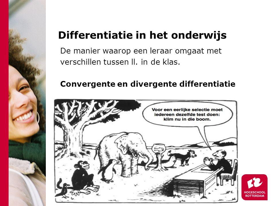 Differentiatie in het onderwijs