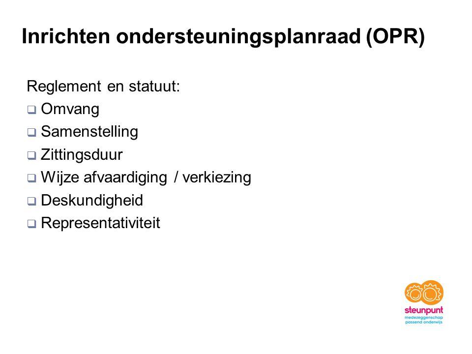 Inrichten ondersteuningsplanraad (OPR)
