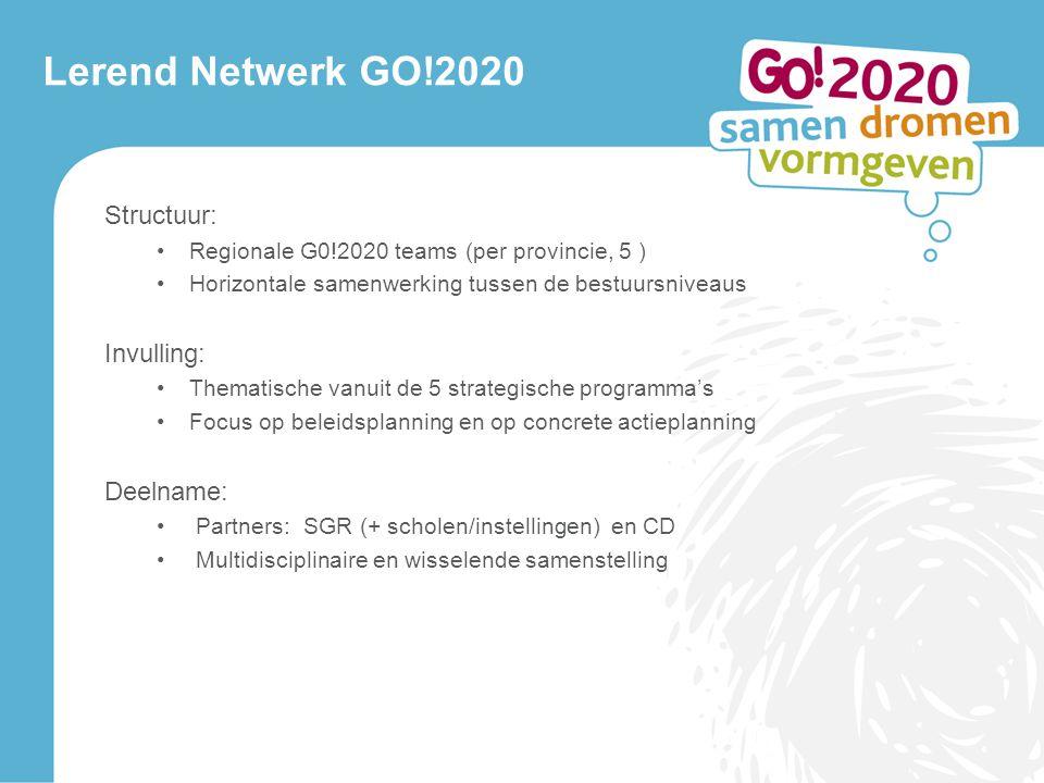 Lerend Netwerk GO!2020 Structuur: Invulling: Deelname: