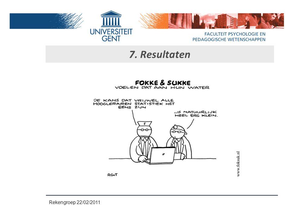 7. Resultaten Rekengroep 22/02/2011
