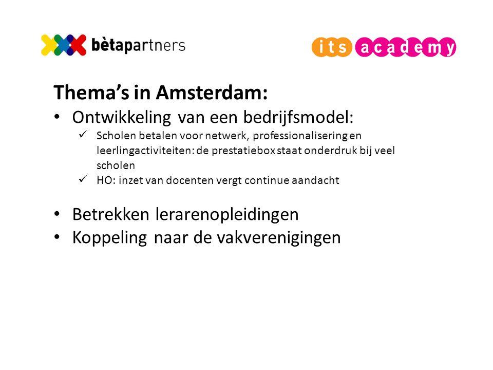 Thema's in Amsterdam: Ontwikkeling van een bedrijfsmodel: