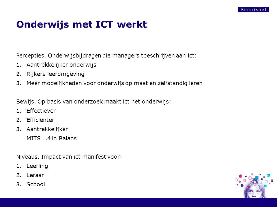 Onderwijs met ICT werkt