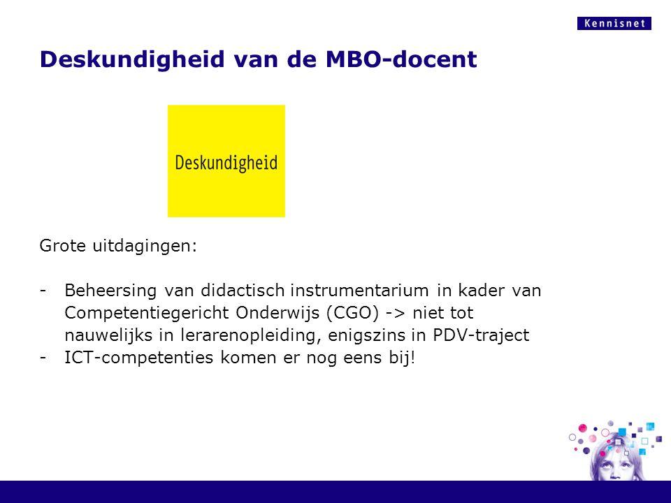 Deskundigheid van de MBO-docent