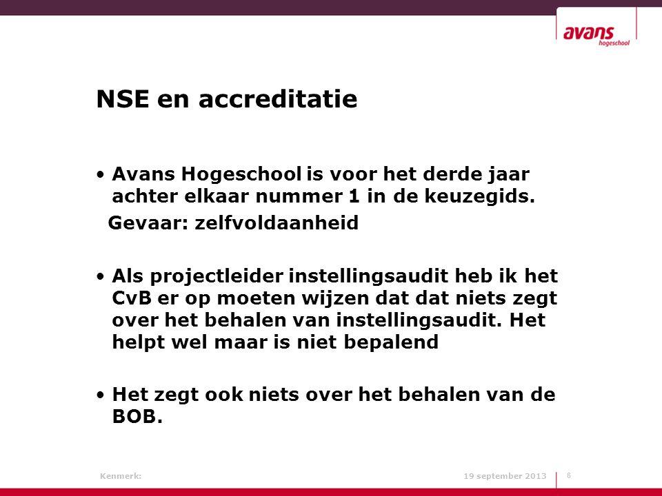 NSE en accreditatie Avans Hogeschool is voor het derde jaar achter elkaar nummer 1 in de keuzegids.