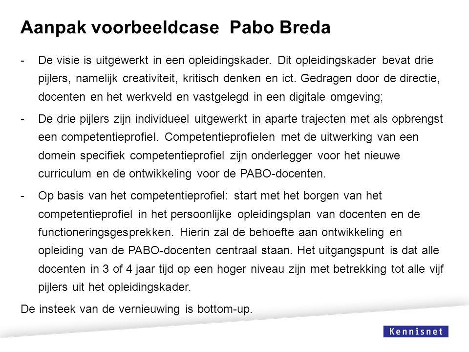Aanpak voorbeeldcase Pabo Breda