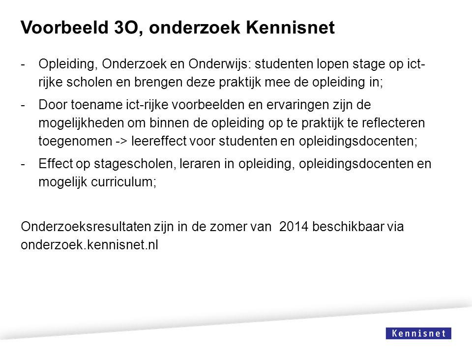 Voorbeeld 3O, onderzoek Kennisnet