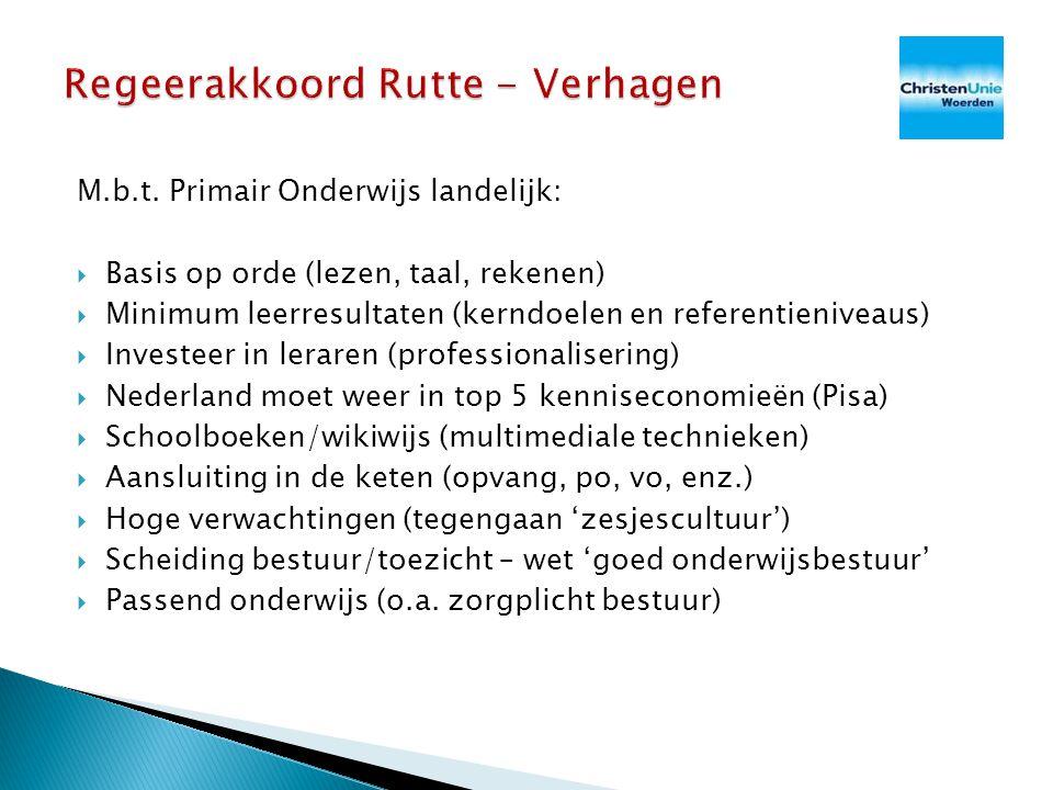 Regeerakkoord Rutte - Verhagen