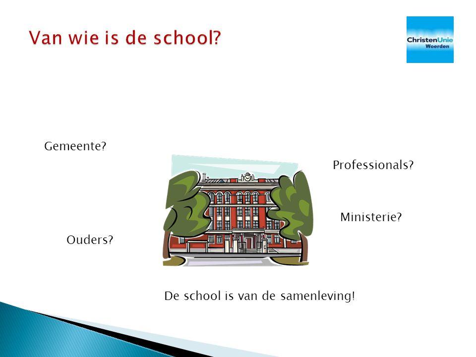 Van wie is de school Gemeente Professionals Ministerie Ouders