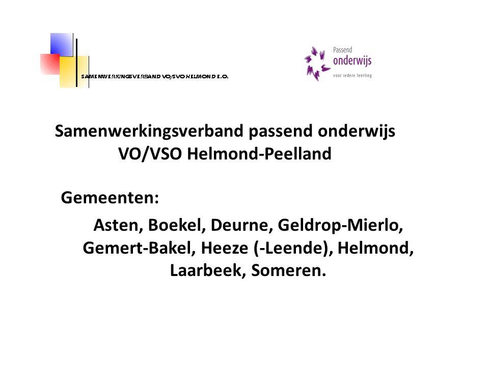 Samenwerkingsverband passend onderwijs VO/VSO Helmond-Peelland