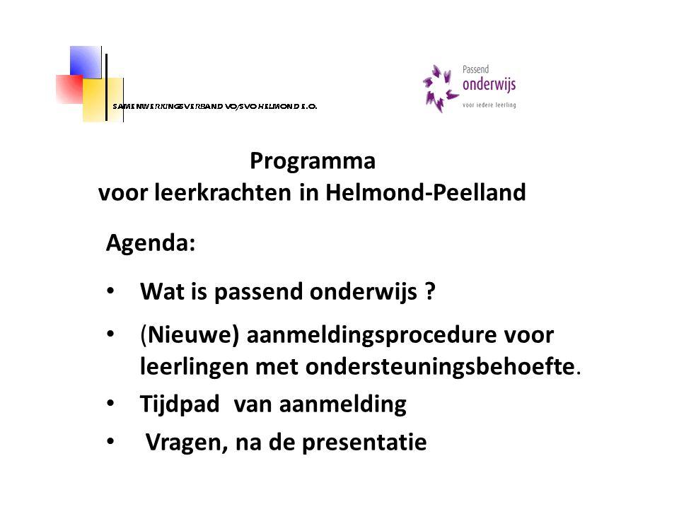 Programma voor leerkrachten in Helmond-Peelland